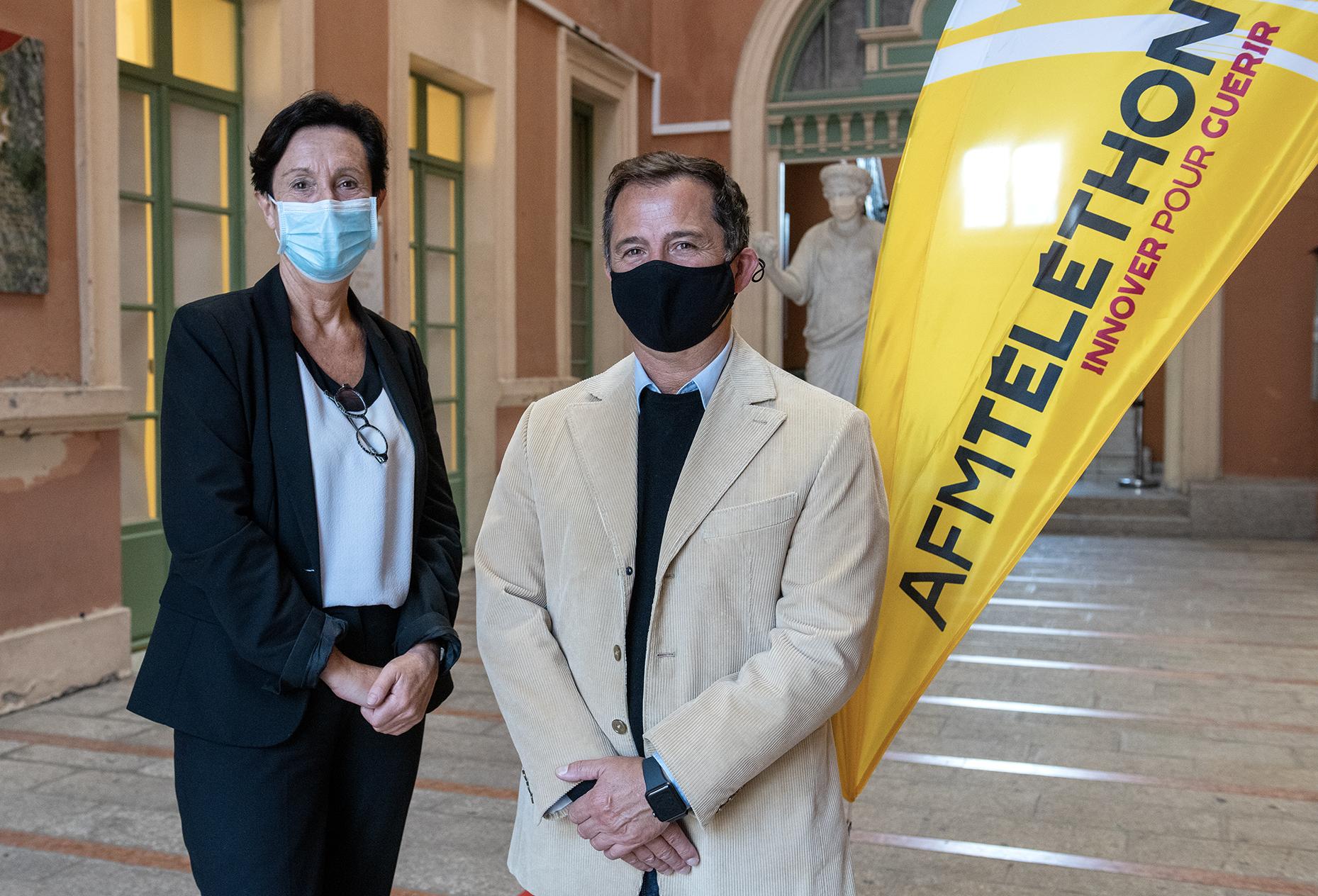 Laurence Tiennot-Herment, présidente de l'AFM-Téléthon s'est rendue à l'hôtel de Ville d'Ajaccio pour une réunion avec Jean-Pierre Aresu ce mardi 13 octobre.