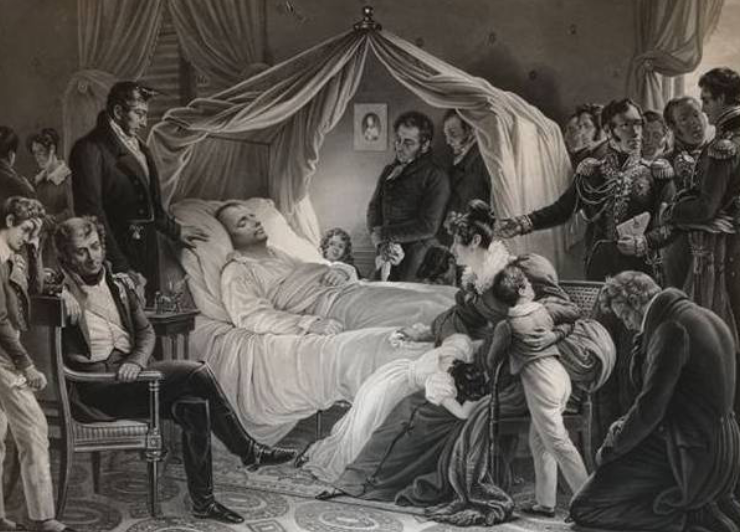 La Mort de Napoléon d'après Karl-August Von Steuben, Ajaccio, Palais Fesch-musée des Beaux-Arts (Crédit Palais Fesch-musée des Beaux-Arts).
