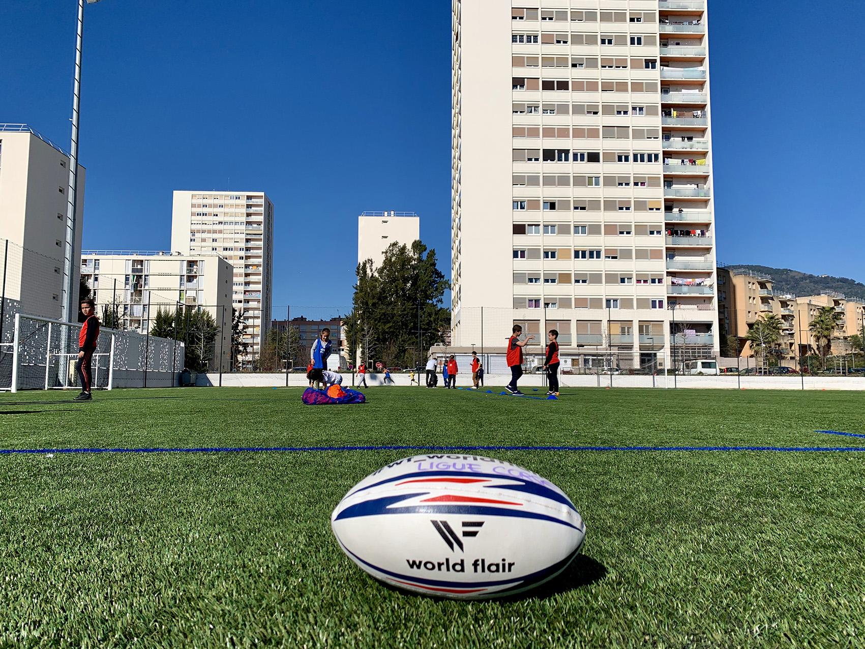 Rugby : visite des présidents des ligues Corse et PACA au stade Jean Fabiani