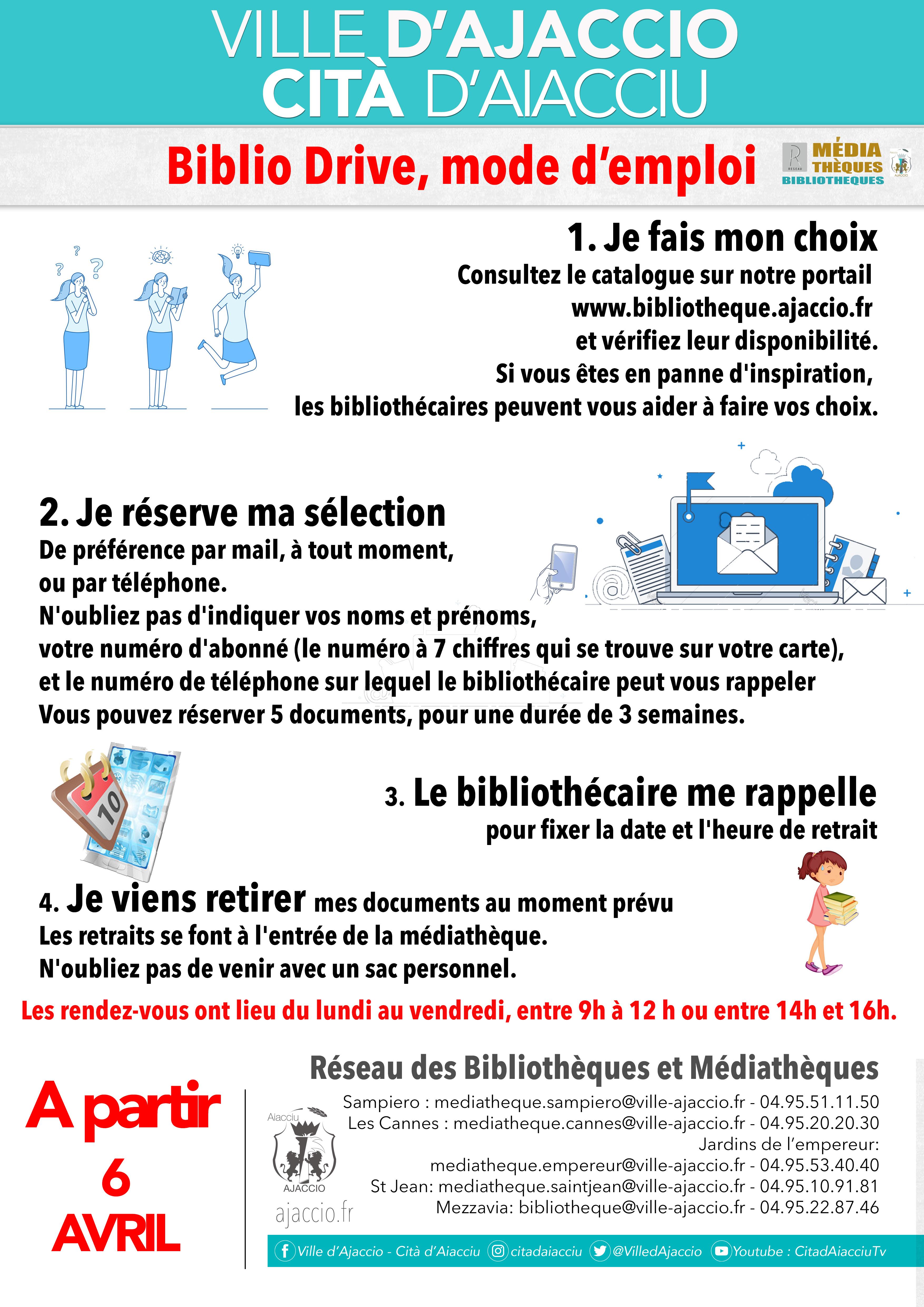 Fermeture des médiathèques : Information Biblio Drive