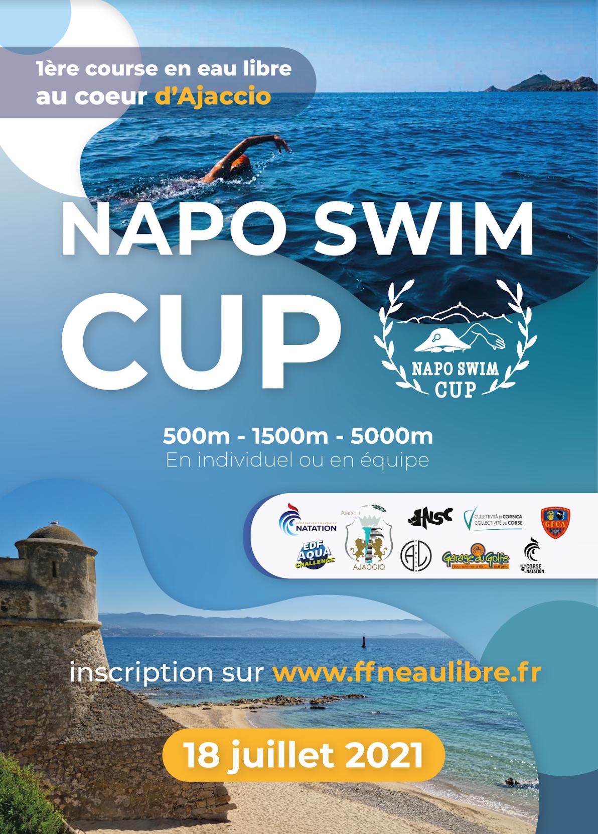 Inscrivez-vous pour la compétition en eau libre, la Napo Swim Cup, le 18 juillet