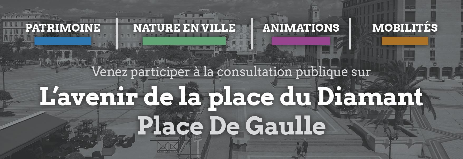 Consultation publique sur l'avenir de la place du Diamant, participez !