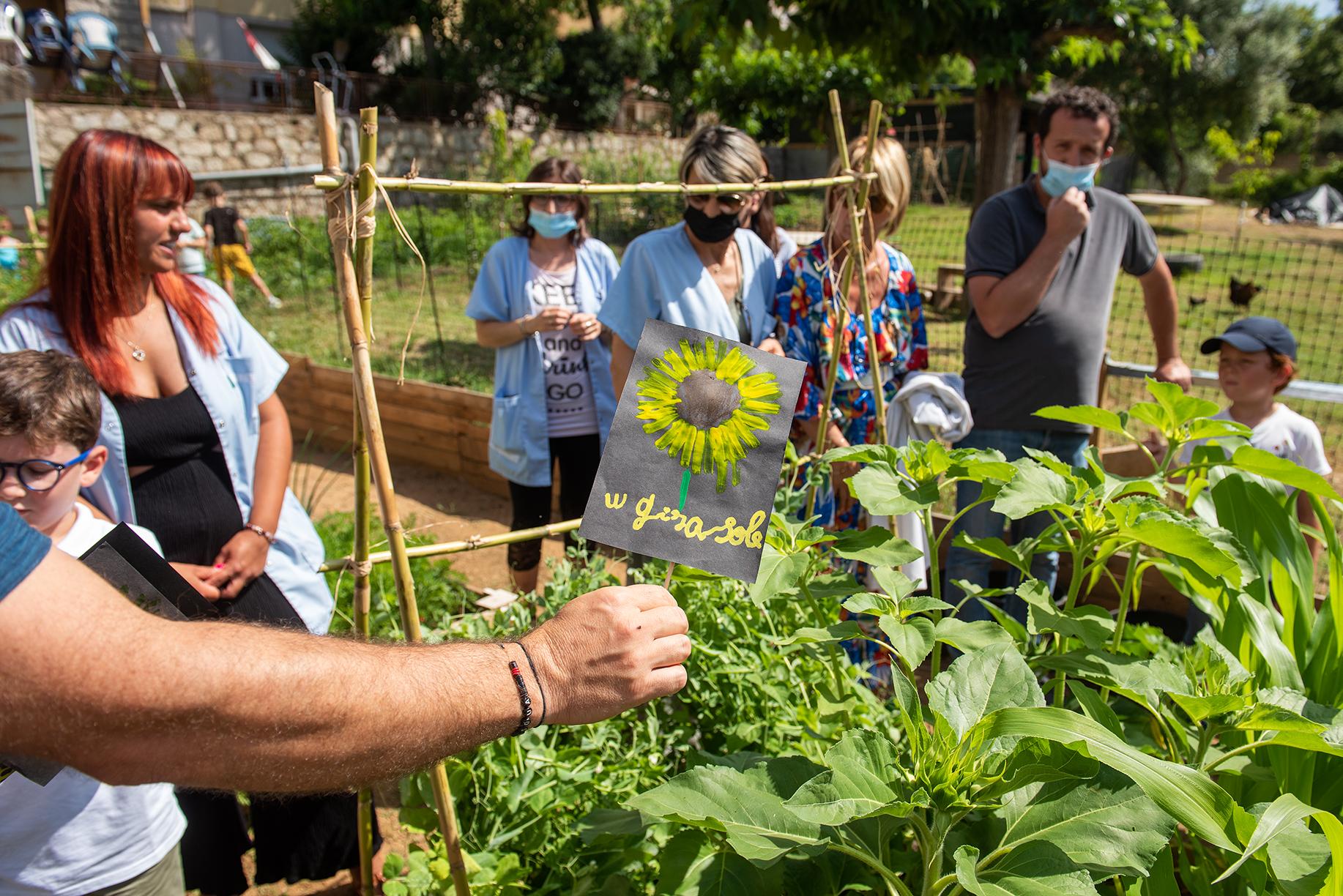 Le potager a permis de développer plusieurs actions notamment l'apprentissage du vocabulaire du jardinier.
