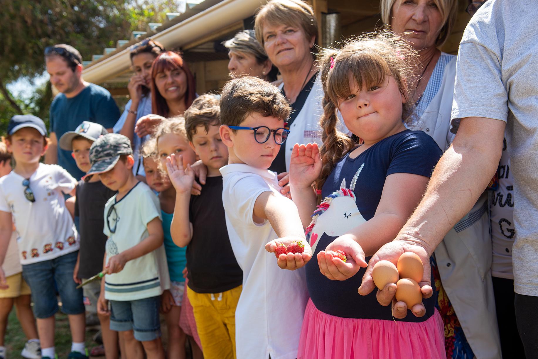 Le poulailler de la maternelle de Pietralba remporte le 1er prix des Trophées du développement durable