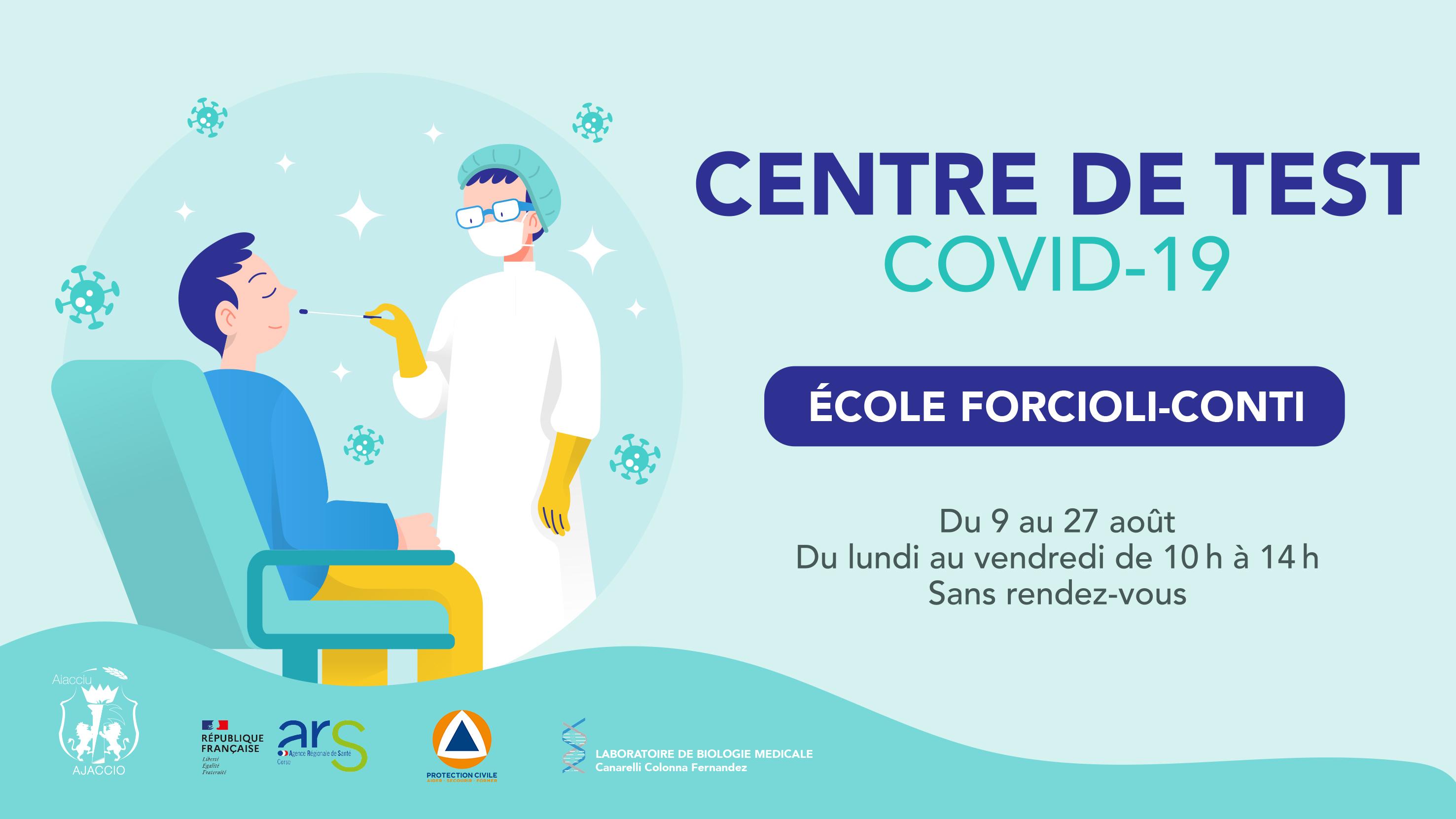 Un centre de tests antigéniques ouvre en cœur de ville ajaccien