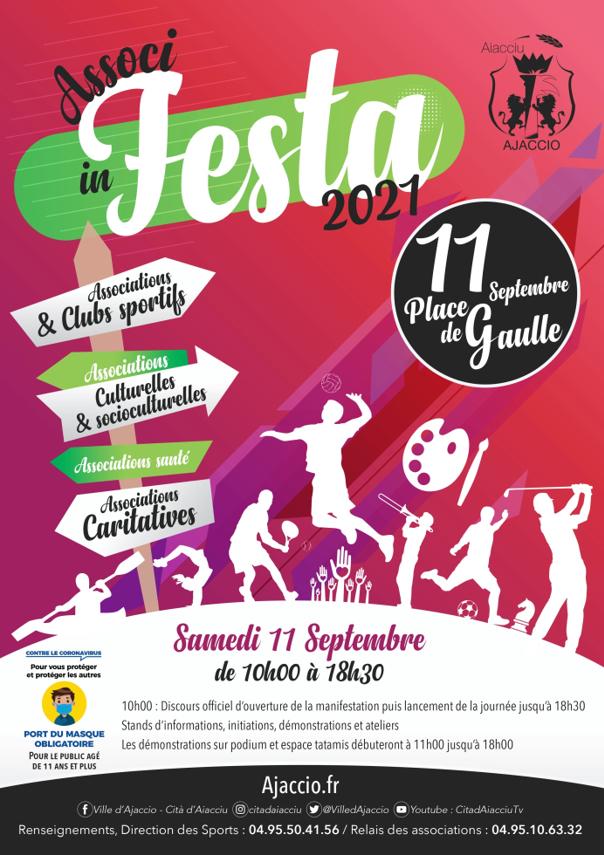 Associ In Festa 2021 samedi 11 septembre place de Gaulle