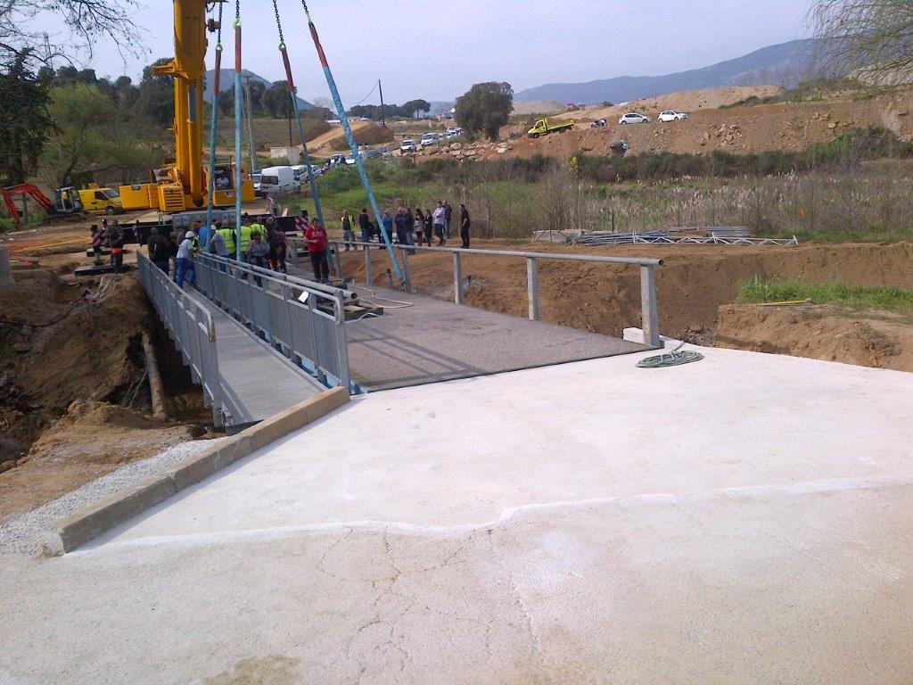 Ouverture du pont de secours de Confina 2 : samedi 22 mars 2014 à 07H30