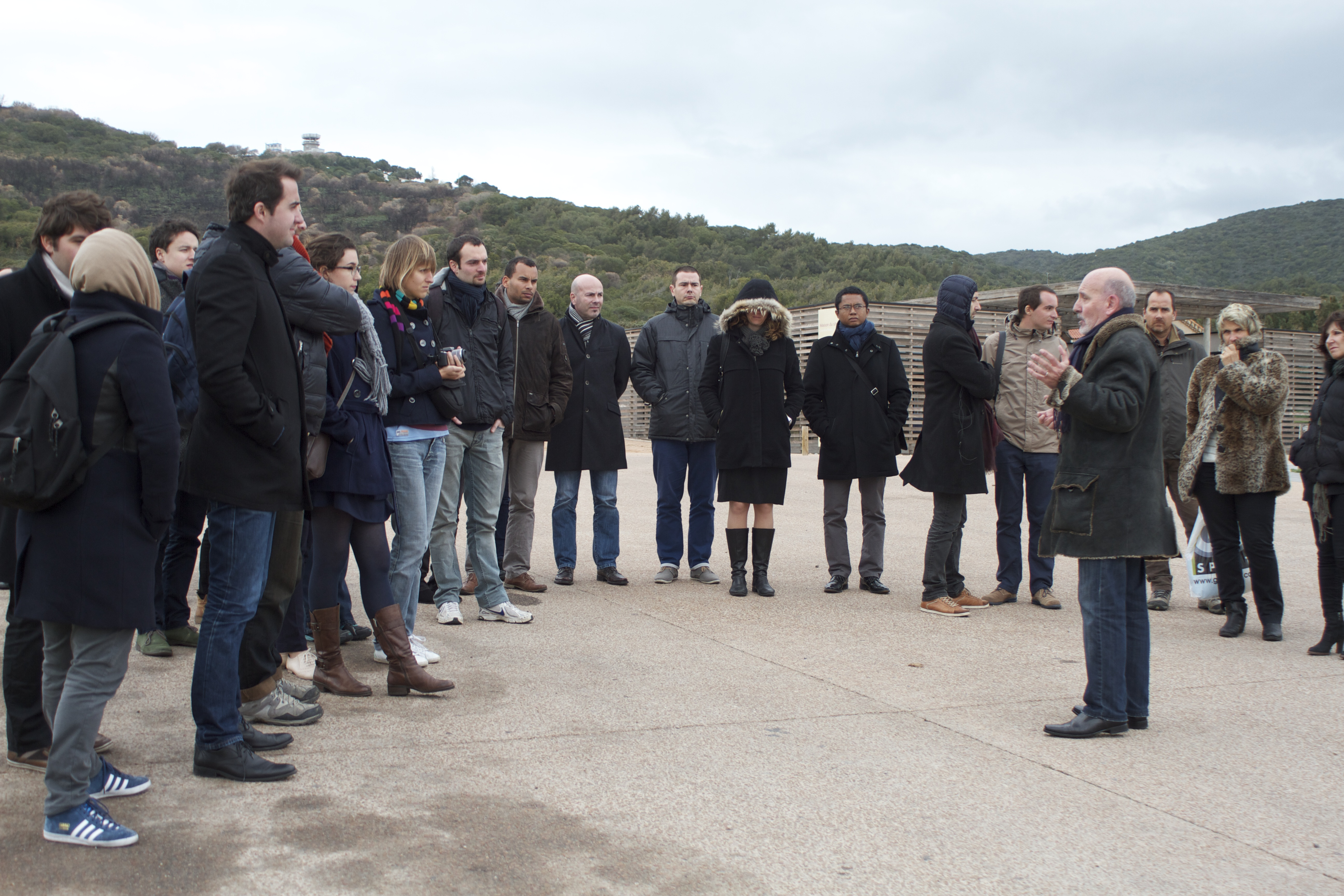 Les élèves de l'Institut Régional de l'Administration visitent le Grand Site
