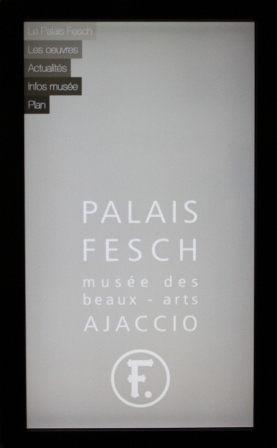 """Lancement de l'application du Palais Fesch le musée Fesch devient """"Tactile"""""""