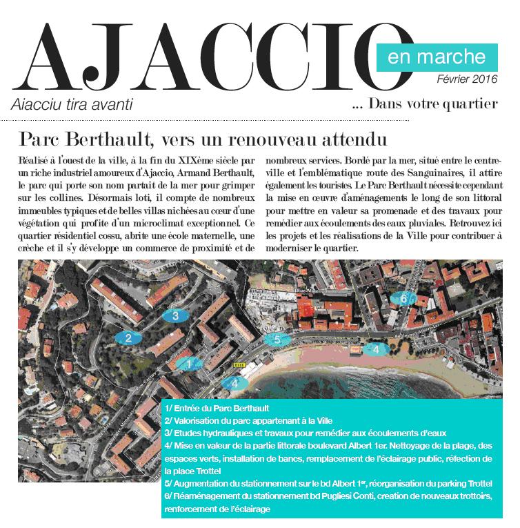 """""""Ajaccio en Marche dans votre quartier""""... Parc Berthault"""