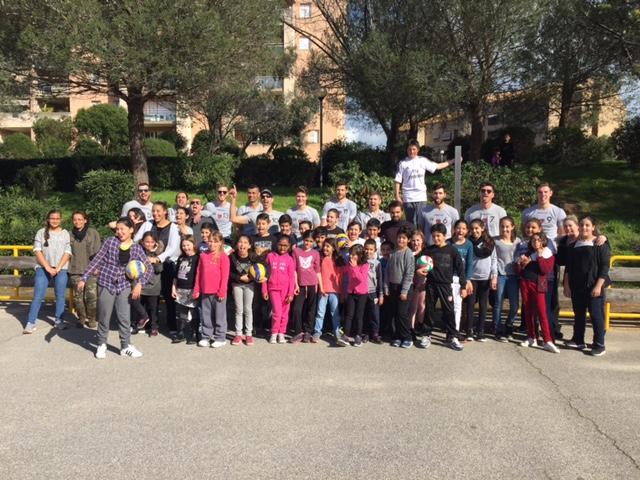 Le GFCA Volley s'invite au Centre Social des Salines