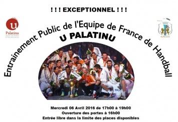 Entrainement public de L'Equipe de France De Handball