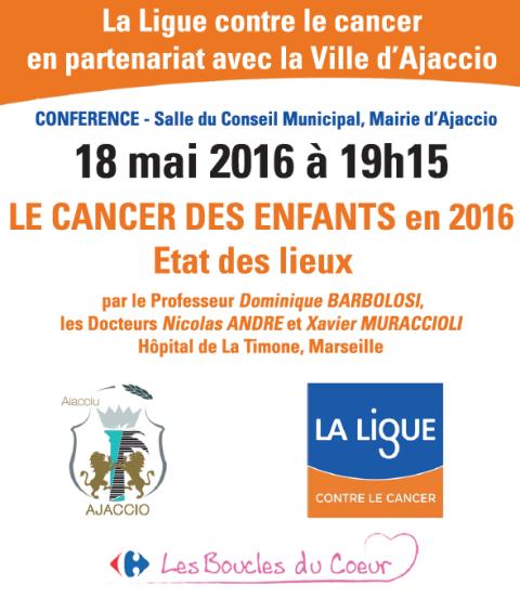 """Conférence """"Les Cancers de l'enfant en 2016, état des lieux"""""""