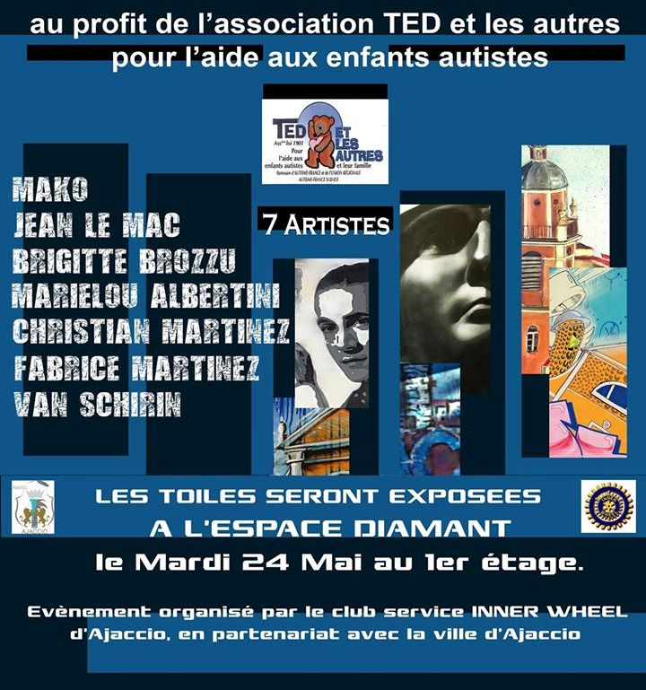 Vente aux enchères caritative mardi 24 mai 18h30 Espace Diamant
