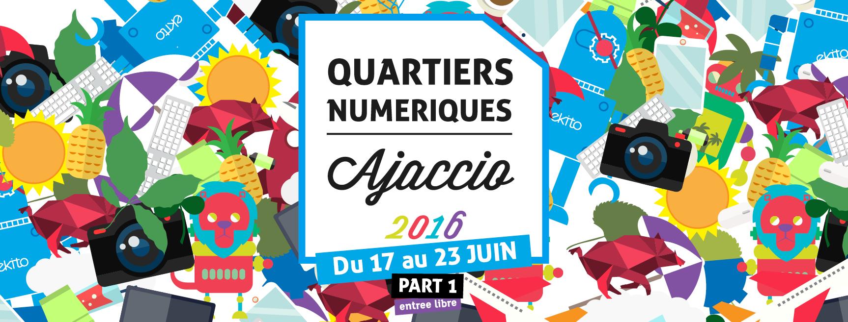 3ème edition des Quartiers Numériques du 17 au 23 juin