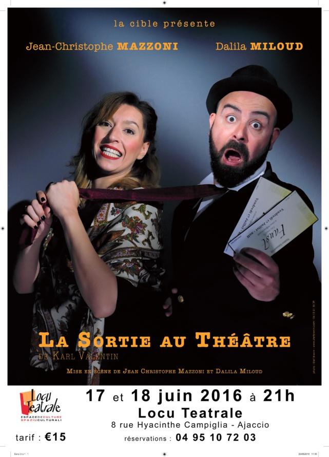 """Spectacle """"La Sortie au Théâtre"""" les 17 et 18 juin 21h à Locu Teatrale"""