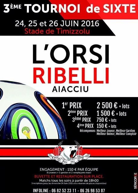 Tournoi de sixte de l'Orsi Ribelli 24-25-26 juin