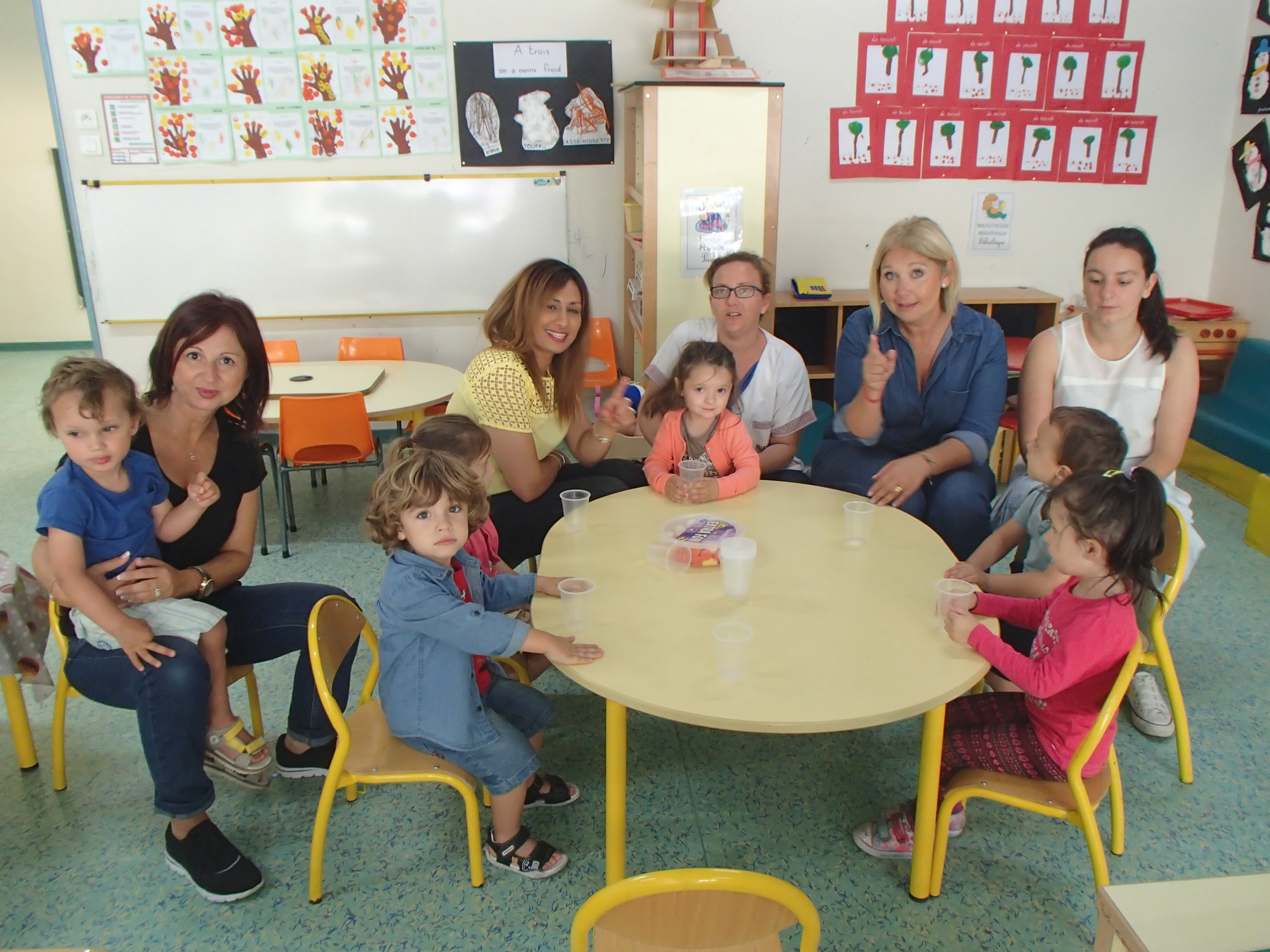 Les enfants de la crèche A Rundinella à la découverte de l'école