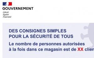 L'affiche des consignes de sécurité à destination des commerces
