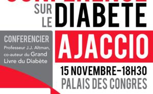 Vendredi 14 novembre Journée Mondiale du Diabète - La Ville d'Ajaccio s'associe à cette journée en illuminant la Fontaine des 4 lions en bleu jusqu'au 15 novembre