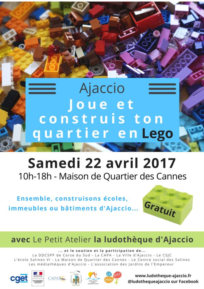 """Des milliers de briques de Lego pour """"Joue et construis ton quartier"""" à la Maison de Quartier des Cannes!"""