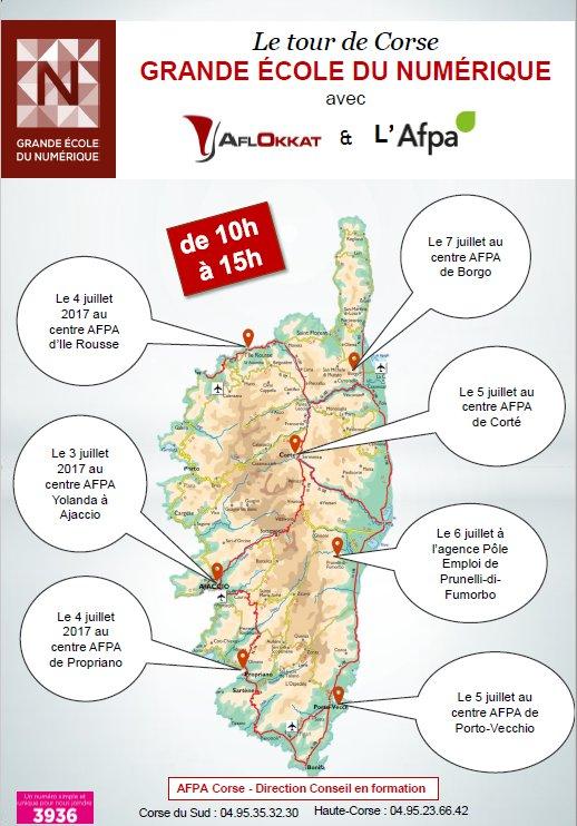 Tour de Corse Grande école du numérique