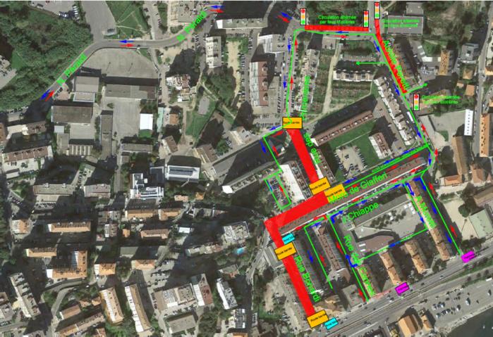 Travaux de requalification Cannes-Salines nouveau plan de circulation à partir du 16 octobre
