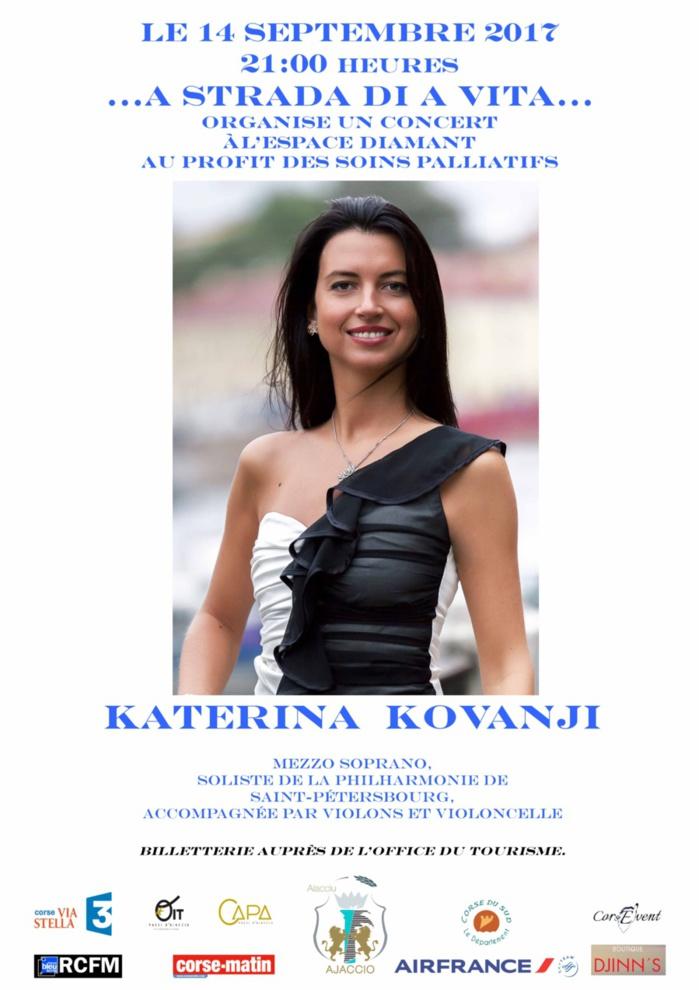 Concert de KATERINA KOVANJI au profit des soins palliatifs jeudi 14 septembre