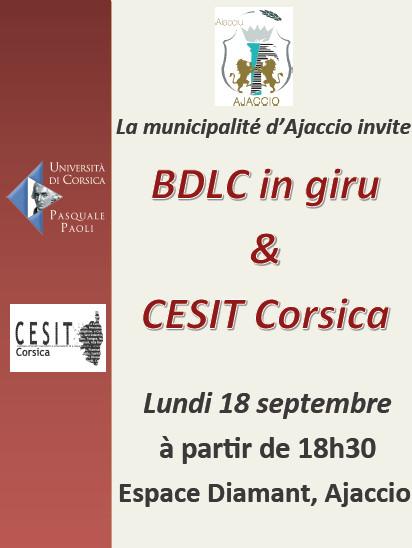 Conférence BDLC in giru et CESIT Corsica lundi 18 septembre à l'Espace Diamant