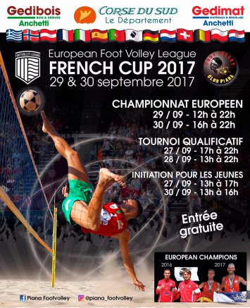 Championnat d'Europe de Foot Volley le 29 et 30 Septembre au Palatinu