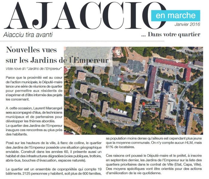 Ajaccio en Marche dans votre quartier : Les Jardins de l'Empereur