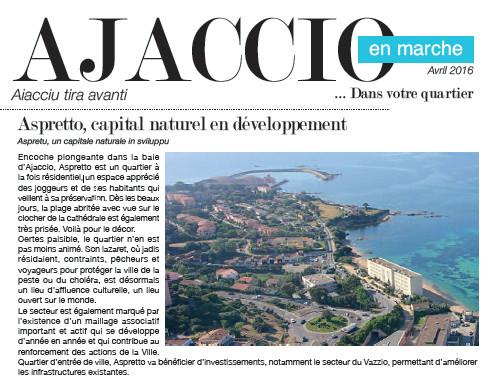 Ajaccio en Marche dans votre quartier :