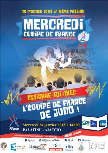 Entrainement de l'Equipe de France de Judo au Palatinu