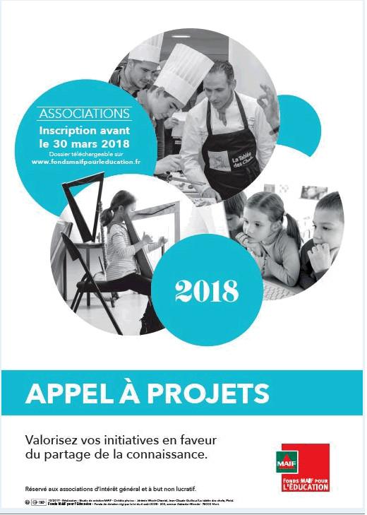 Le Fonds MAIF pour l'Education lance son APPEL A PROJETS 2018