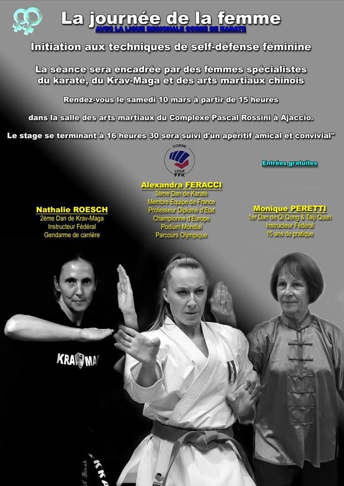 Journée de la femme avec la ligue regionale Corse de Karate