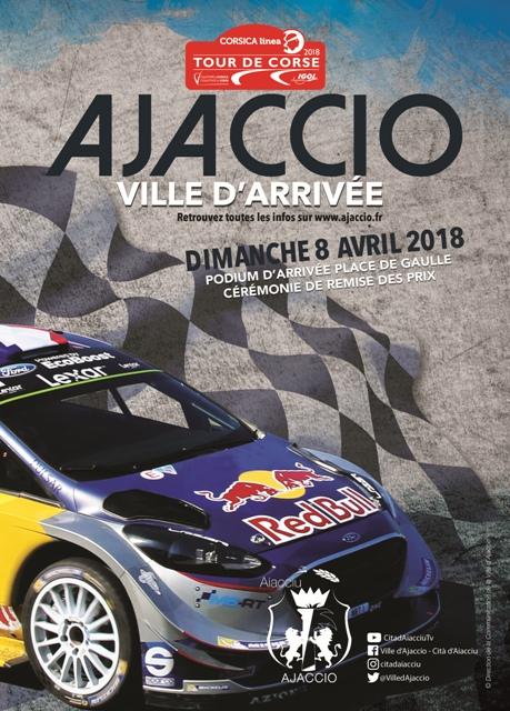 Ajaccio Ville d'arrivée du Corsica Linea Tour de Corse 2018