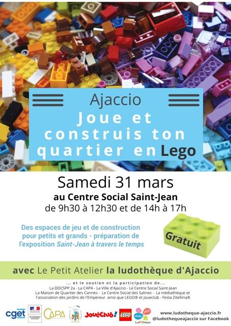 """""""Joue et construis ton quartier en Lego"""", samedi 31 mars au centre social de Saint-Jean"""