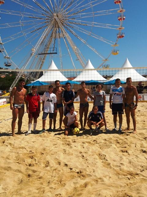 Footvolley avec les joueurs brésiliens et espagnols