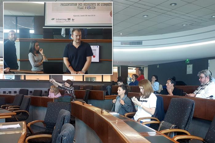 L'équipe de l'UMR LISA dévoile aux acteurs locaux les résultats de l'étude menée.