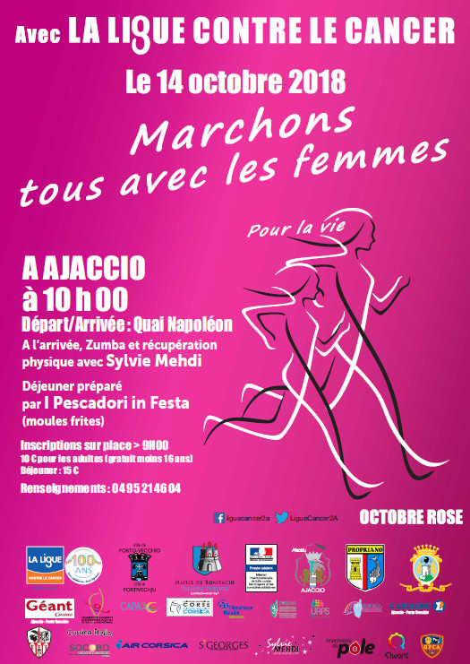 Marche d'Octobre Rose dimanche 14 octobre 2018 Quai Napoléon