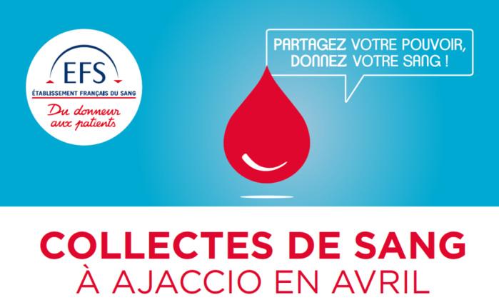 Collectes de sang du mois d'avril 2019