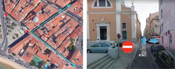Inversion du sens de circulation rue Forcioli Conti à partir du 23 mai 2019