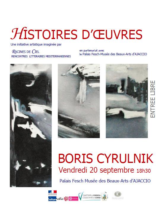 Histoires D'œuvres conférence de Boris Cyrulnik vendredi 20 septembre