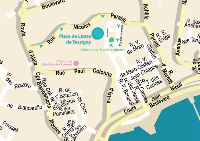 Place de Lattre de Tassigny, métamorphose urbaine quartier des Cannes
