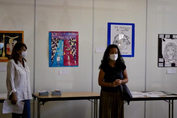 Remise de prix du concours d'affiches contre les violences faites aux femmes