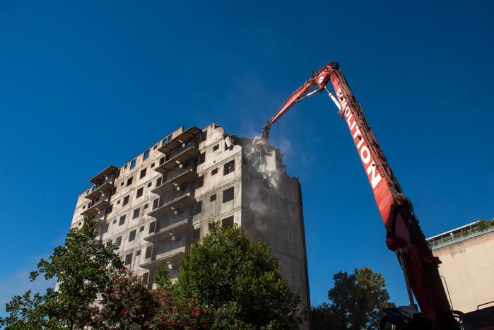 Démolition de la ruine Candia