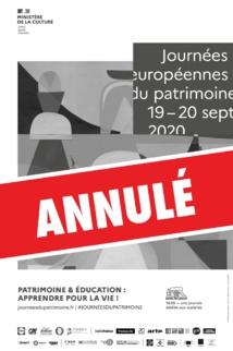 Annulation des Journées du Patrimoine et point sur la saison culturelle 2020