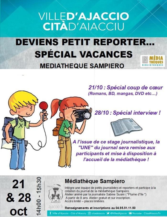 Atelier Deviens petit reporter, spécial vacances de la Toussaint