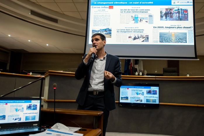 Guillaume Bonnentien, expert villes, territoires et infrastructures durables a présenté le fruit de son travail, le profil climatique d'Ajaccio (Photo Ville d'Ajaccioà.