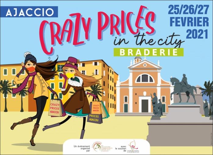 """Braderie """"Crazy Prices in the city"""" du 25 au 27 février en centre ville"""